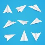 Fije un icono simple de los aviones del papel Fotos de archivo