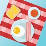 Fije un pequeño desayuno Imagen de archivo libre de regalías