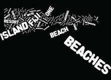 Fiji Beaches Text Background Word Cloud Concept Stock Photo