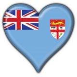 Fiji button flag heart shape Stock Image