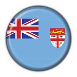 Fiji button flag round shape. Fiji button flag 3d made Royalty Free Stock Images