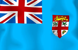 Fiji Flag. Computer generated illustration of the flag of Fiji Stock Illustration