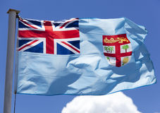 Fiji Flag. The close view of Fiji flag in a morning light (Lautoka, Fiji royalty free stock images