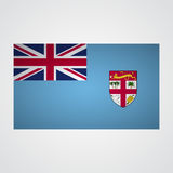 Fiji flag flag on a gray background. Vector illustration Royalty Free Stock Photo