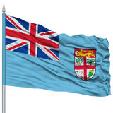 Fiji Flag on Flagpole Royalty Free Stock Image