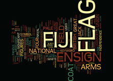 Fiji Flag Text Background  Word Cloud Concept Royalty Free Stock Photo