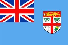 Fiji Flag Vector Flat Icon. Fiji Flag Vector Icon - Illustration Royalty Free Stock Images