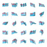 Fiji flag, vector illustration. On a white background Royalty Free Stock Photo