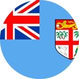 Fiji Flag Vector Round Flat Icon. Illustration Royalty Free Stock Photos