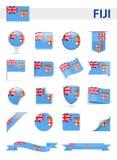 Fiji Flag Vector Set. Fiji Flag Set - Vector Illustration Stock Photo