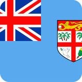 Fiji Flag Vector Square Flat Icon. Illustration Royalty Free Stock Photos