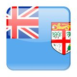 Fiji Flag Vector Square Icon. Illustration Stock Image