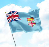 fiji flagga royaltyfri fotografi
