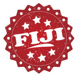 Fiji grunge stamp. Fiji red grunge stamp on white Royalty Free Stock Images