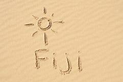 Fiji in het Zand Stock Foto