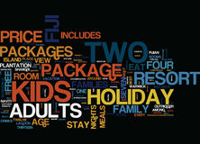 Fiji Holiday Packages Text Background  Word Cloud Concept Stock Images