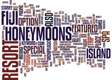 Fiji Honeymoons Text Background Word Cloud Concept Stock Photography