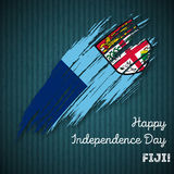 Fiji Independence Day Patriotic Design. Stock Images