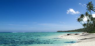 Fiji island best ever beach photo. Natural panorama. Natural crystal clear water. Fiji island best ever beach photo. Natural crystal clear water. High palms stock photo