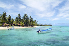 Fiji Island. Malolo Lailai, Fiji - March 15, 2005: Unidentified people on Plantation Island resort, preferred place for vacation and water sport in south sea stock image