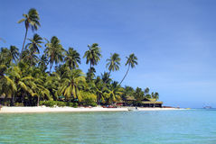 Fiji Island. Malolo Lailai, Fiji, Plantation Island resort, preferred place for vacation and water sport in south sea, Melanesia stock images