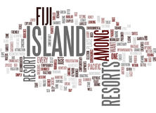Fiji Island Resorts Text Background Word Cloud Concept Royalty Free Stock Photo