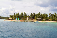 Fiji,. Jetty at Malolo Lailai island stock photo