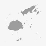 Fiji map in gray on a white background Royalty Free Stock Photography