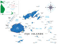 Fiji map Stock Image