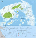 Fiji map Royalty Free Stock Image