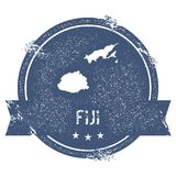 Fiji mark. Travel rubber stamp with the name and map of Fiji, vector illustration. Can be used as insignia, logotype, label, sticker or badge of the country Stock Photography