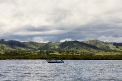 Fiji from the ocean. Momi Bay, west coast of Viti Levu Stock Photography