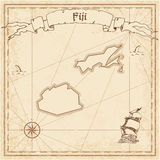 Fiji old treasure map. Royalty Free Stock Image