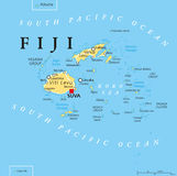 Fiji Political Map Royalty Free Stock Photography