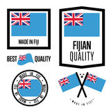 Fiji quality label set for goods Stock Images