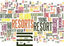 Fiji Resorts Text Background Word Cloud Concept stock illustration