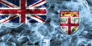 Fiji smoke flag. Isolated on a black background Royalty Free Stock Photo