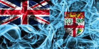 Fiji Smoke Flag Of The State Stock Photo