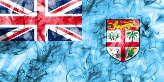 Fiji smoke flag on a white background.  Stock Photos