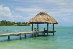 Fiji, South sea. Fiji, jetty on Malolo Lailai island royalty free stock photo