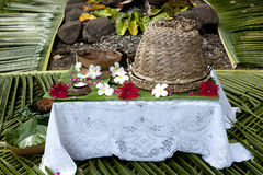 Fiji - Table prepared for Guests Royalty Free Stock Photos