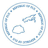 Fiji vector map sticker. Royalty Free Stock Images