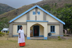 A Fijian church in a  village Stock Photography