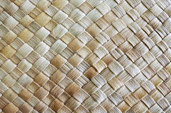Fijian coconut Palm leaves weaving background Royalty Free Stock Photography