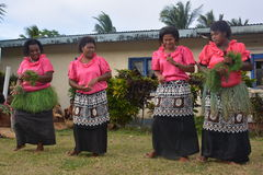 Fijian dancing women Royalty Free Stock Photos