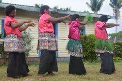 Fijian dancing women Stock Photo