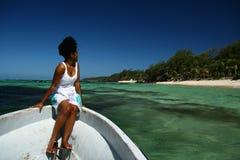 Fijian dans le paradis tropical photographie stock
