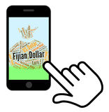 Fijian Dollar Means Forex Trading And Banknotes. Fijian Dollar Representing Exchange Rate And Banknote Stock Photos