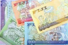 Fijian Dollars - reverse side, a background. Fijian Dollars - reverse side, a business background royalty free stock photography