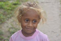 Fijian girl. Fijian blonde girl living in the Yasawa Islands of Fiji Stock Images